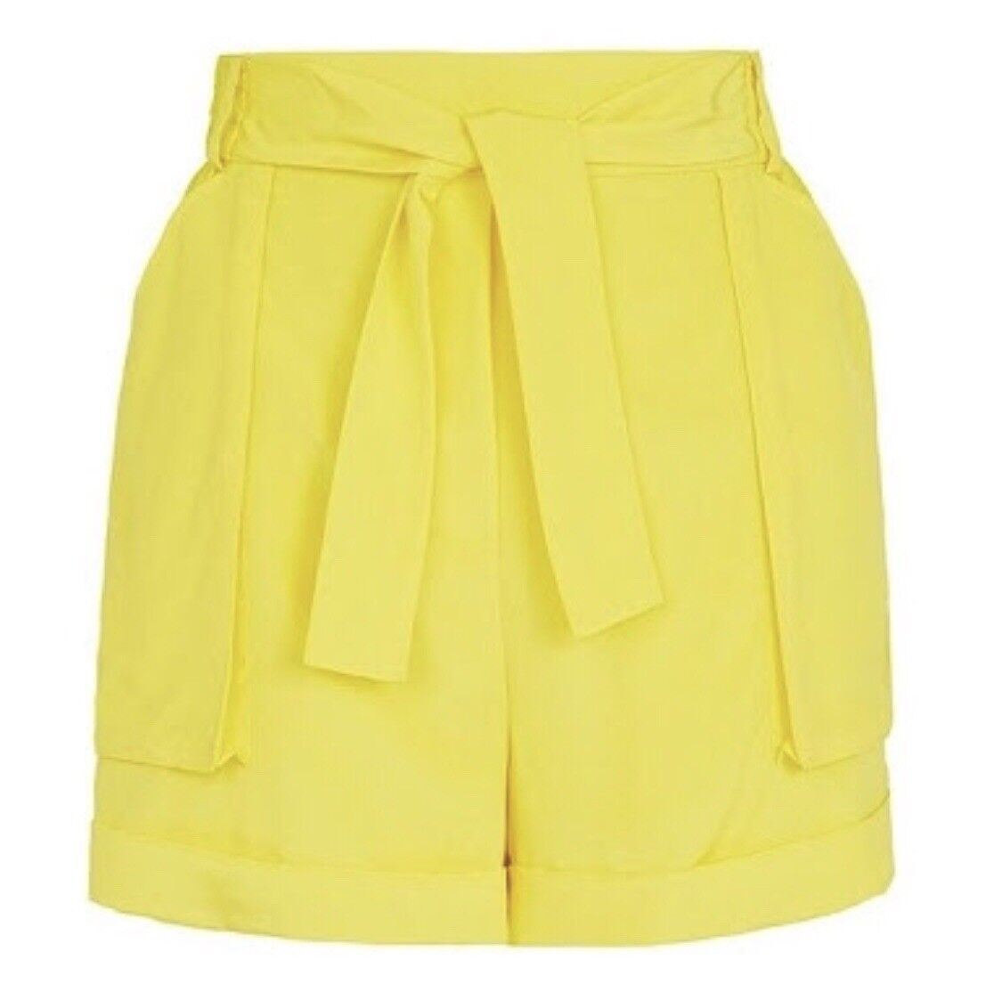 Sass and Bide The Airs Force Silk Shorts Size 14 Yellow