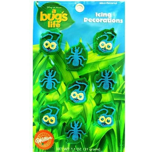 ~ Pixar Birthday Party Supplies A BUG/'S LIFE WILTON ICING CAKE DECORATIONS 9