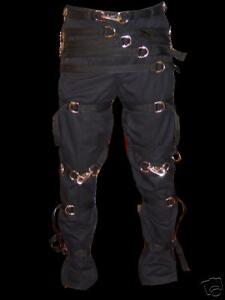 Gothic  pants 46 X 30 restraint black straps w// buckles