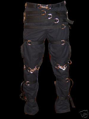 "Goth Punk /""straight jacket style/""Rave pants 32X34"