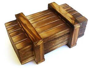 Geocaching-magische-Box-aus-Holz-Kiste-mit-Geheimfach-Cache-Versteck-Geocache-IQ