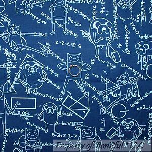 Boneful fabric fq cotton quilt blue white robot math for Space boy fabric