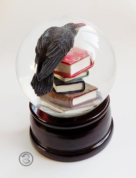 Edgar Allan Poe Raven Nevermore Gothic dettagliate VETRO Beauty