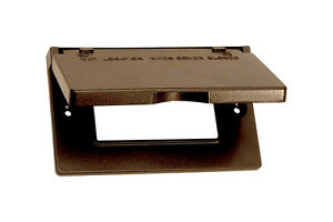 Sigma-Rectangle-Aluminum-1-gang-Electrical-Cover-For-Horizontal-Mount-Bronze