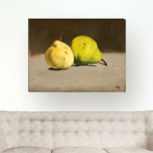 """/""""Two Pears/"""" Wandkings Canvas Édouard Manet"""