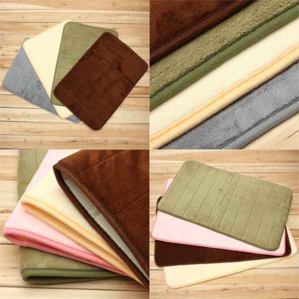 Soft Touch Durable Bathroom Carpet Memory Foam Bath Mat Rug Slow Rebound NonSlip