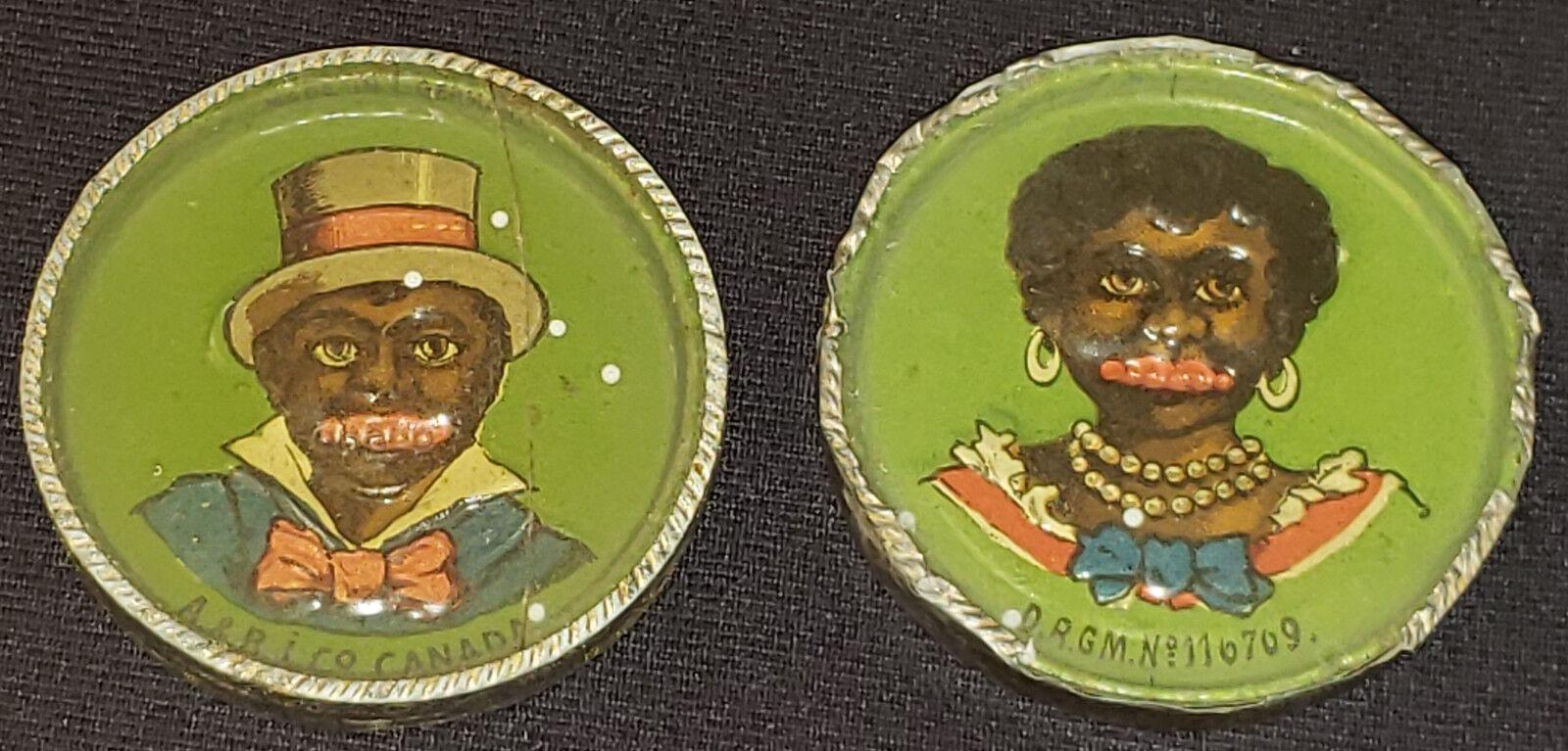 1890 1900's - Americana Negra-juegos de destreza-Puzzle - (2) - Original