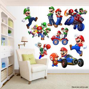 Adesivi Murali Super Mario Bros.Super Mario Bros Room Decor Adesivi Murali Adesivo Rimovibile Ebay