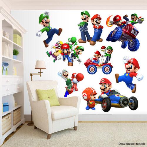 Room Decor Super Mario Bros Wall Decal Removable Sticker