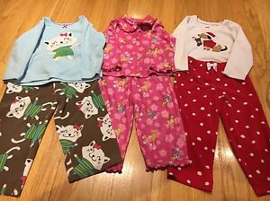 d1ffd01da92b Lot of 3 Long Sleeve Girls Pajamas PJs Size 3T Disney Princess ...