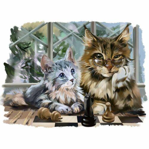 Diamond Cats Portrait Painting Cute Animals Design Mosaic Embroidery Decorations