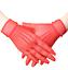 Gants-courts-rouges-en-resille-chainettes-sur-le-dos-de-la-main-pinup-retro-glam miniature 1