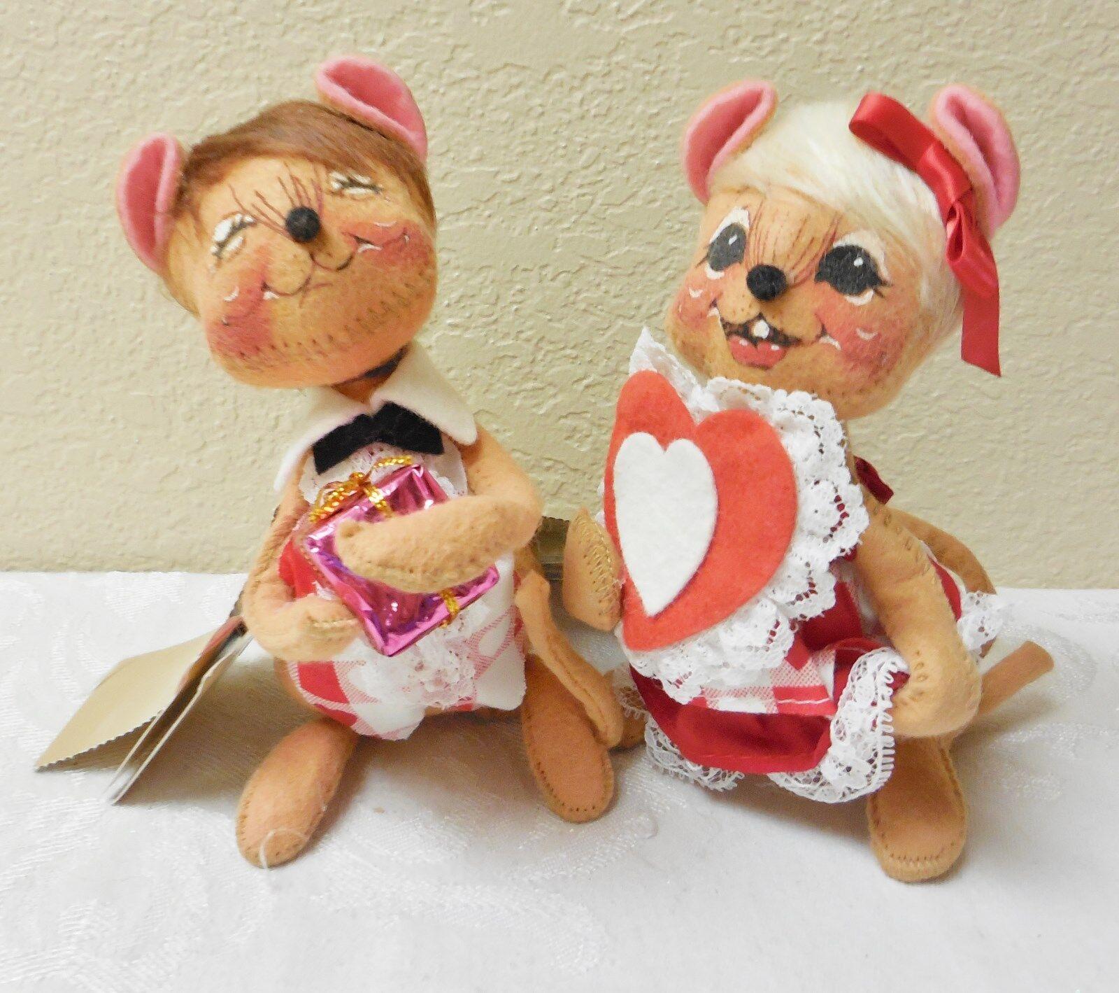 Nmwt  vintage1997annalee 7    cariño boy&girl Mouse  Estatuilla & 034097