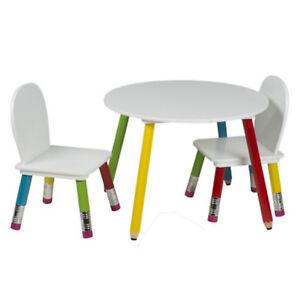 kindertisch mit 2 st hlen kinderzimmer tisch kinder m bel bunt kindersitzgruppe ebay. Black Bedroom Furniture Sets. Home Design Ideas