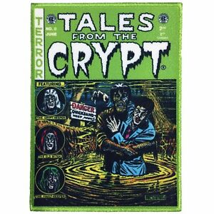 Kreepsville-666-Tales-from-the-Crypt-Comics-Goth-Punk-Green-Iron-On-Patch-PECCG
