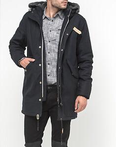 best sneakers 5f5f1 87e78 Details about Parka Black Fur Coat MAN Jacket LEE Jeans Coat Jacket- show  original title