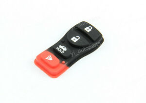 4 Buttons Rubber Pad For Nissan Infiniti Infinity Fob Remote Key Shell Case 4B