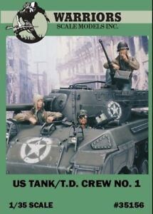 Warriors-1-35-US-Tank-T-D-Crew-No-1-Resin-2-Figures-1-Bust-Kit-35156
