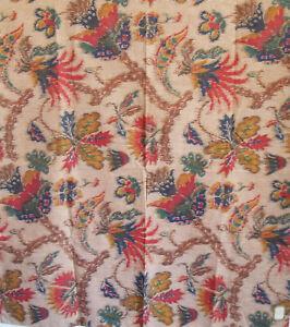 Flower-Pattern-IKAT-Upholstery-Fabric-Sample-34-1-2-034-X-32-034