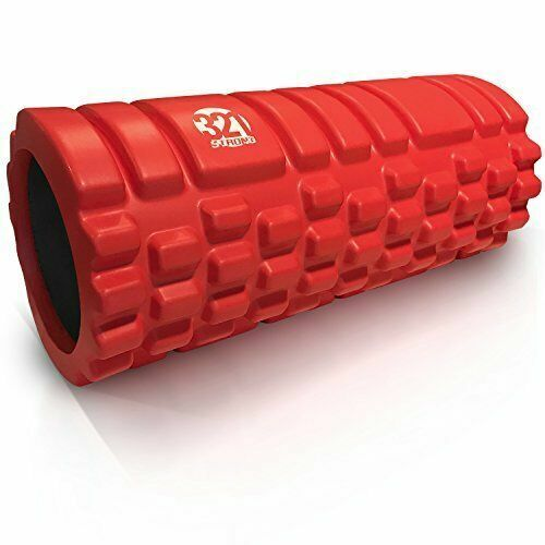 with 4K eBook Extra Firm High Density Deep Tissue Massager with Spinal Channel 321 STRONG Foam Roller for Muscle Massage and Myofascial Trigger Point Release