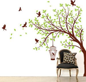 00681 wall stickers adesivi murali albero estate 165x150 for Stencil adesivi