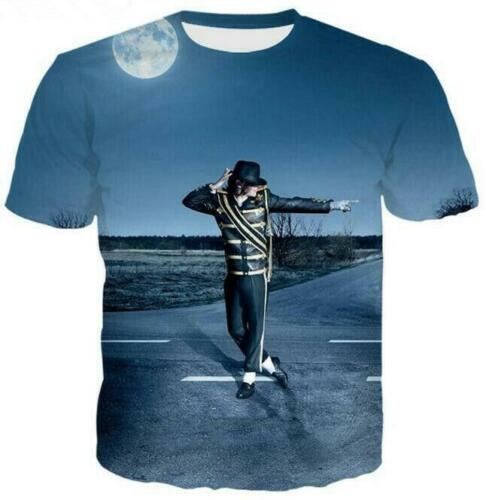 Men//Women/'s Superstar Michael Jackson 3D Print Casual T-Shirt Short Sleeve  2019