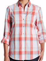 Foxcroft Multi Color Plaid Women's Long Sleeve Shirt - Sz 6,8, 10, 12 -
