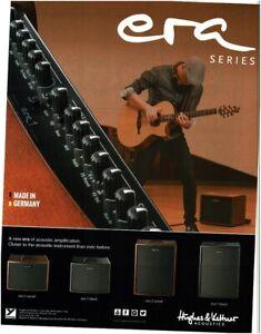 2018 HUGHES & KETTNER ERA Acoustic Guitar Amplifier magazine ad