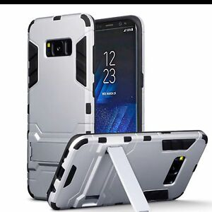 Samsung-Galaxy-S8-Classic-Series-Impact-Resistant-Rugged-Case-Multi-Layer-Silver