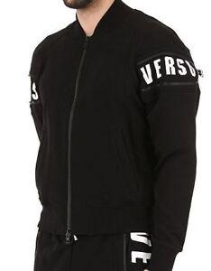 Noir pour Bu50363 Large veste hommes Versace Versus Véritable Taille Bj20643 zippée BHSp1I6wy8