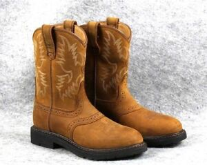 cd276423b8f Details about Ariat Men's Sierra Saddle Steel Toe Work Boot AGED BARK  Leather round toe