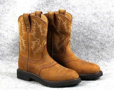 9b716f1cadb Ariat Men's Sierra Saddle Steel Toe Work Boot AGED BARK Leather round toe |  eBay