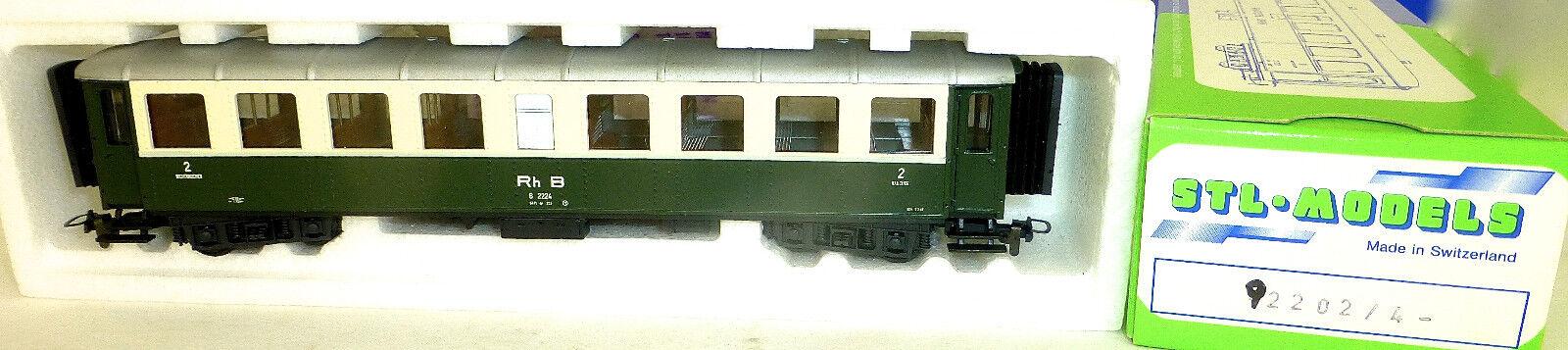 Rhb b 2224  passenger voiture 2ème class vert cream stl models 92202 4  acheter une marque
