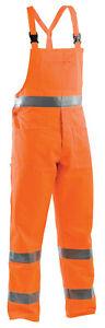 Salopette-Homme-Bavoir-Pantalon-Travail-Haute-Visibilite-Fluorescentes-Salopette