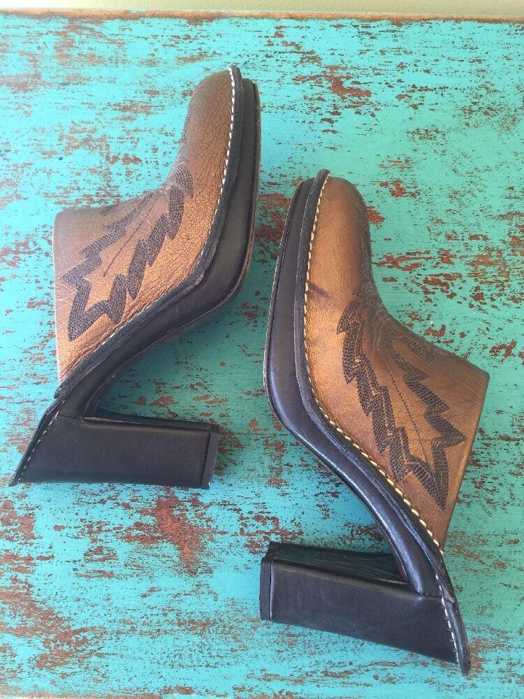 Donald J Pliner Western Cowboy Mules SlipOns Meta… - image 4