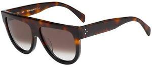 f400840c2a6 HOT NEW Authentic CELINE SHADOW Ladies Havana Black Sunglasses CL ...
