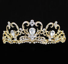 Bridal Pageant Rhinestone Crystal Wedding Prom Crown Tiara 81024