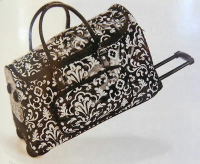 Thirty One Rolling Tote Black Parisian Pop