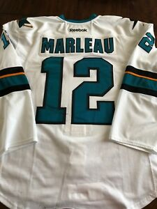 online retailer 64737 e648a Details about Patrick Marleau San Jose Sharks 2014 Game Worn Used Hockey  Jersey