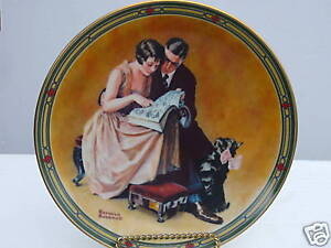 Image is loading Norman-Rockwell-Collector-Plate-Couple-039-s-Commitment- & Norman Rockwell Collector Plate Coupleu0027s Commitment MIB | eBay