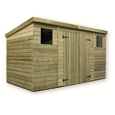 WOODEN GARDEN SHED 10X6 12X6 14X6  PRESSURE TREATED TONGUE AND GROOVE PENT SHED