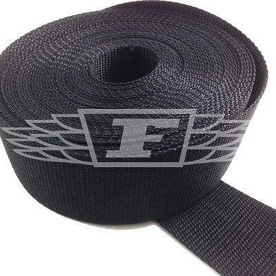 Learned Black 50mm 2 Inch Nylon Webbing X 10 Meters Sporting Goods Buy 2 Get One Free Climbing & Caving