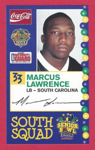 MARCUS LAWRENCE 2005 SENIOR BOWL SOUTH CAROLINA GAMECOCKS ROOKIE NEW YORK GIANTS