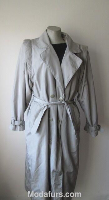 Women's Sz 12 12 12 14 MINT Raincoat with Detachable Rabbit Fur Vest Lining  Large c0324c