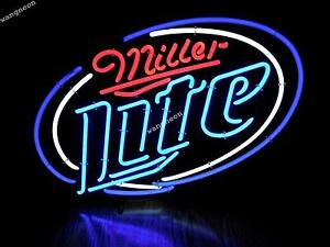 New miller lite classical real neon sign beer bar pub display light image is loading new miller lite classical real neon sign beer aloadofball Choice Image