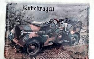 Blechschild 20x30 Cm Kubelwagen Wehrmacht Militar Historisch