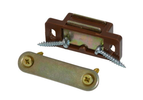 Screws with 6kg Pull Pack of 2 Strong Brown Magnetic Door Catches