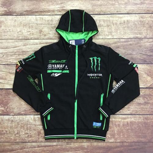 2019 Moto GP For YAMAHA KAWASAKI Motocard Team Zip Sweat Fleece Sweater Jumper