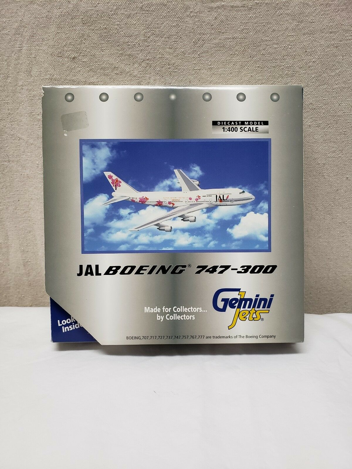 Jal Boeing 747-300 Gemini Jets Diecast Model 1:400 Scale Airplane Aviation Jet