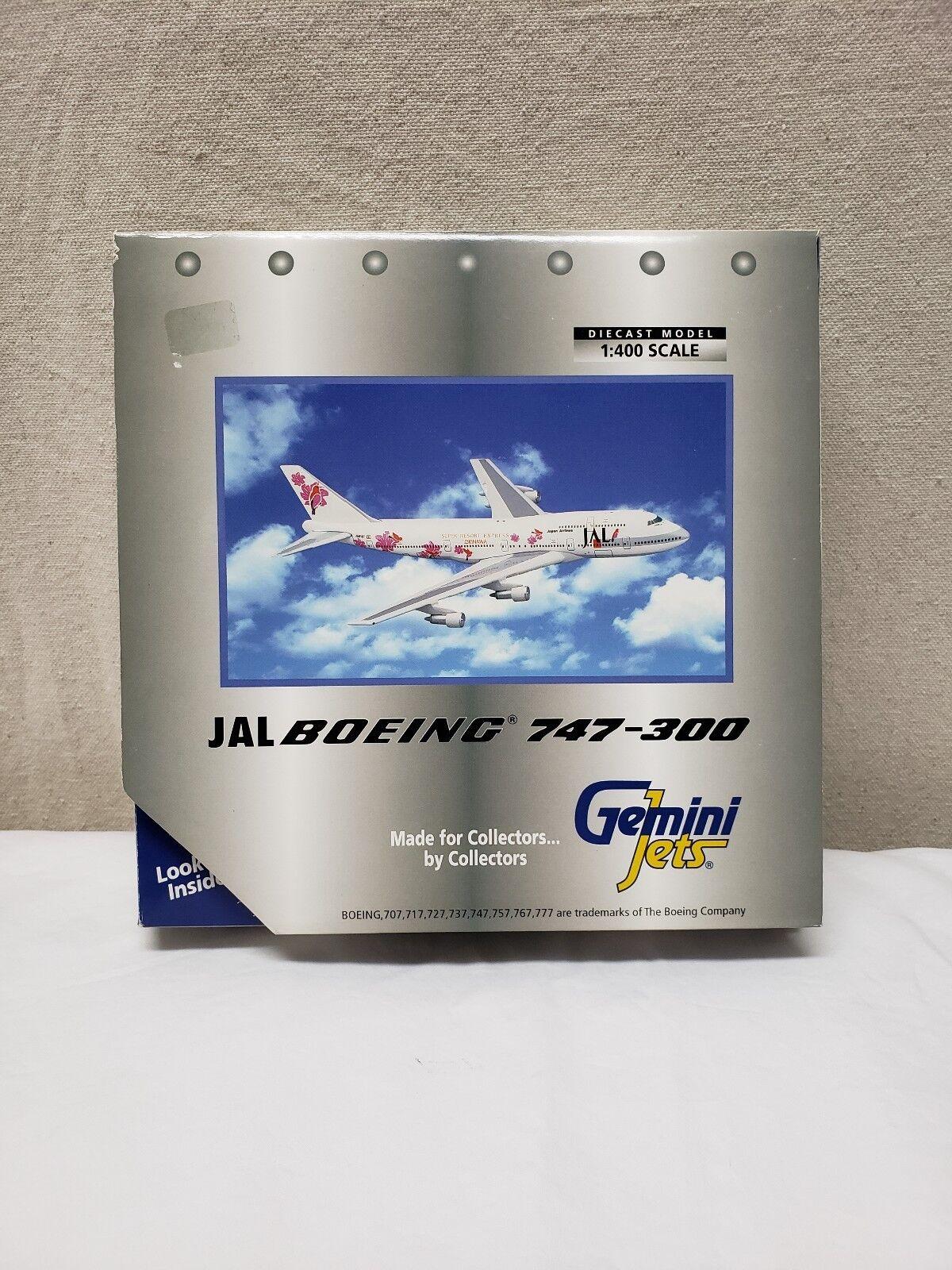 Jal Boeing 747-300 Gemini Jets Diecast Model 1 400 Scale Airplane Aviation Jet
